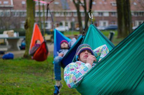 Get safe parachute camping hammock at outdoor
